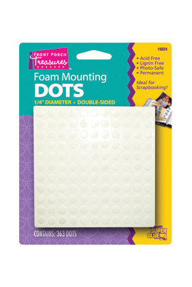 16024 - Front Porch Treasures Small Foam Mounting Dots (363pk)