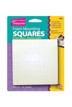 16025-Front Porch Treasures Extra Thick Foam squares (200pk)