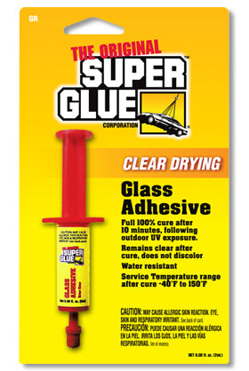 GR - Dries Clear Glass Adhesive