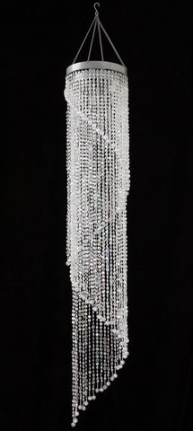 Crystal Bead Spiral Chandelier