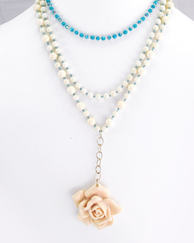 Vintage Floral Necklace Set