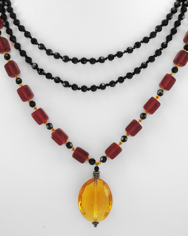 Custom Amber Drop Necklace
