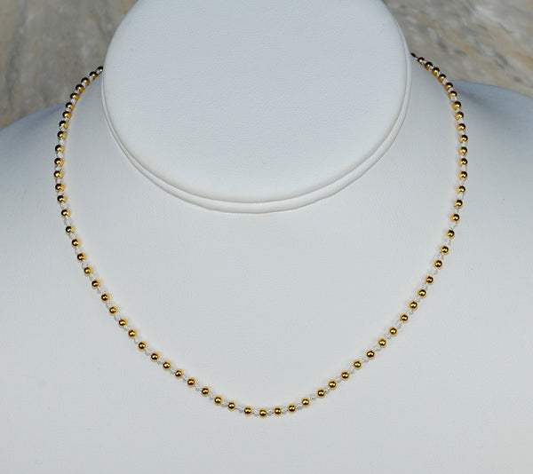 Gold on Cream Choker Necklace
