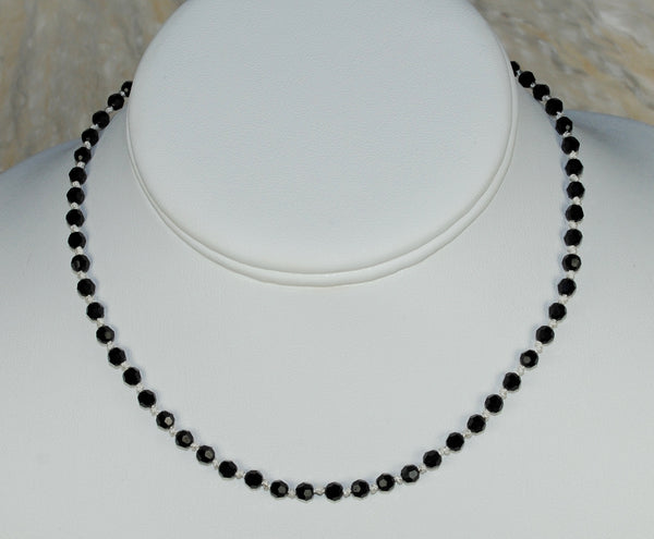 Black Choker Necklace w/ Choice of Silk Color