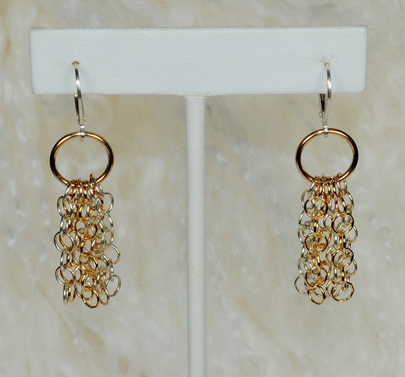 Silver & Gold Chain Earrings