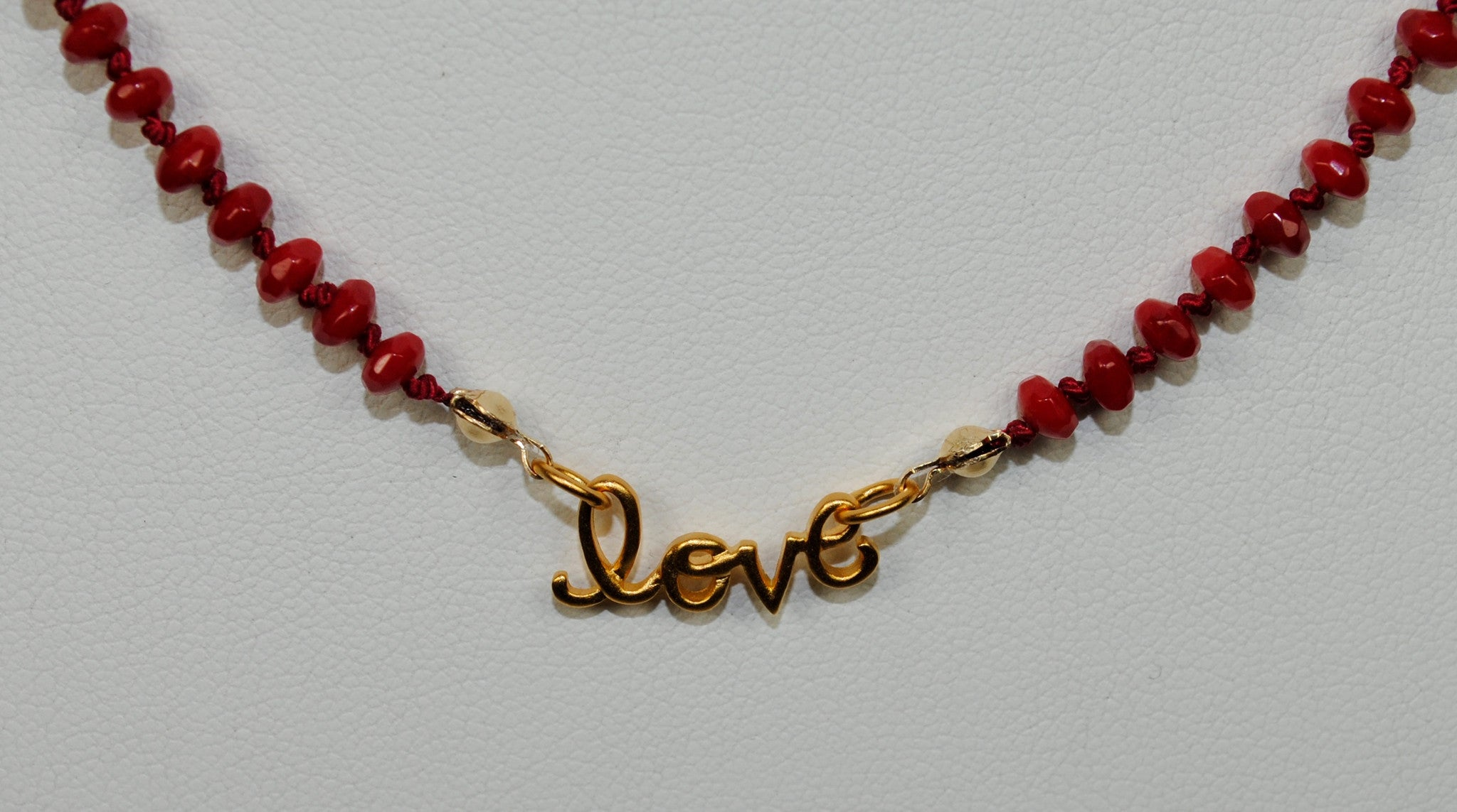 "Red ""Love"" Necklace"