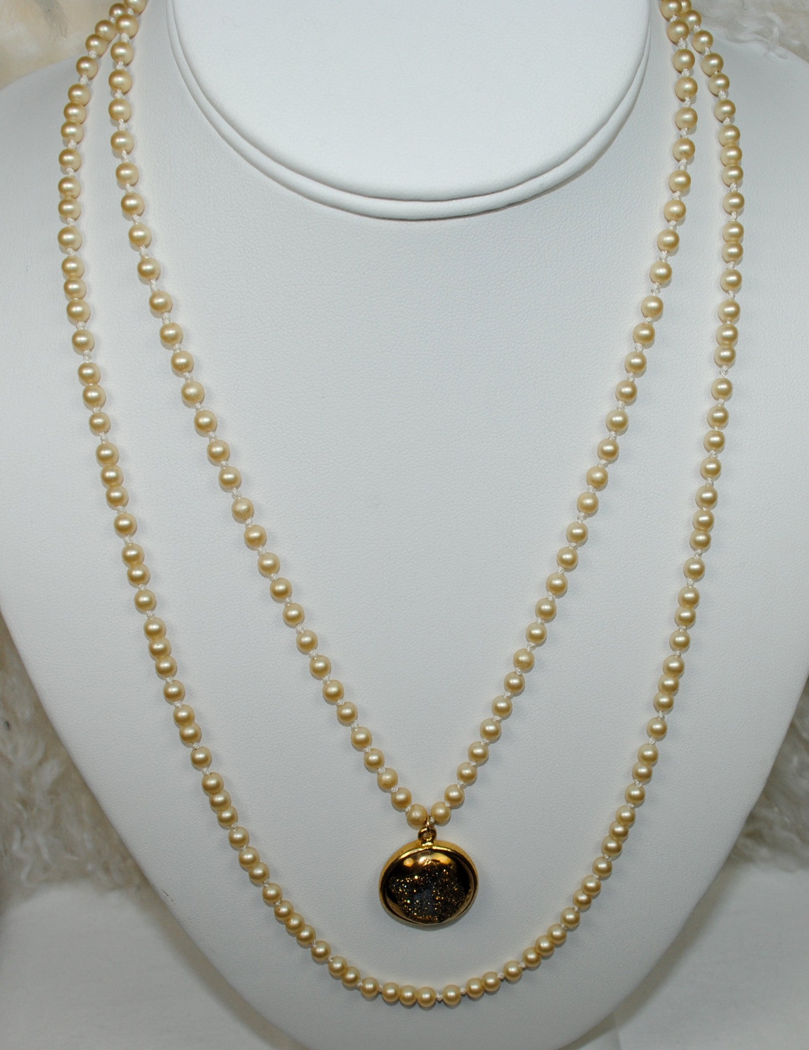 Pearl Necklace w/ Pendant Set