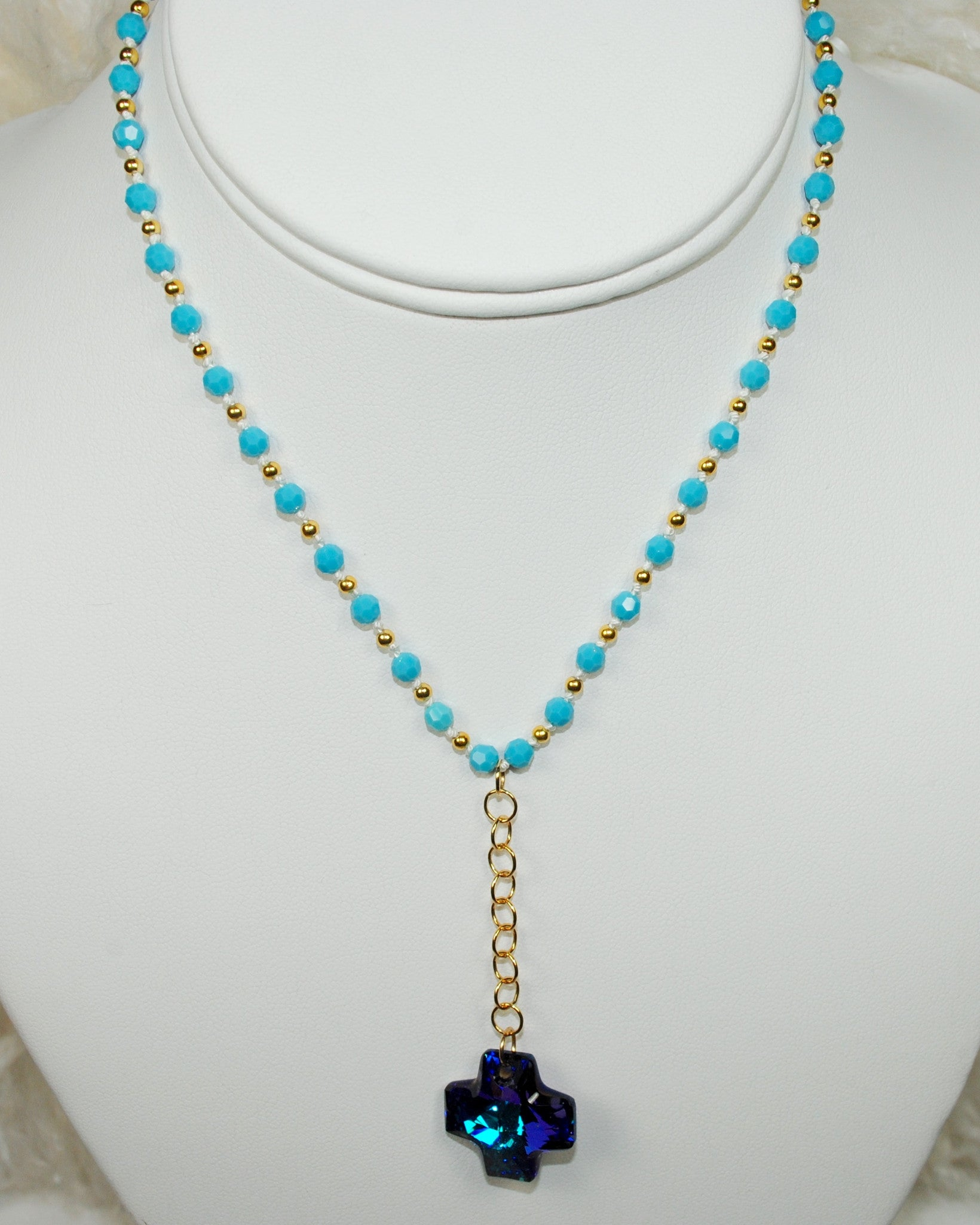 Turquoise Necklace w/ Cross