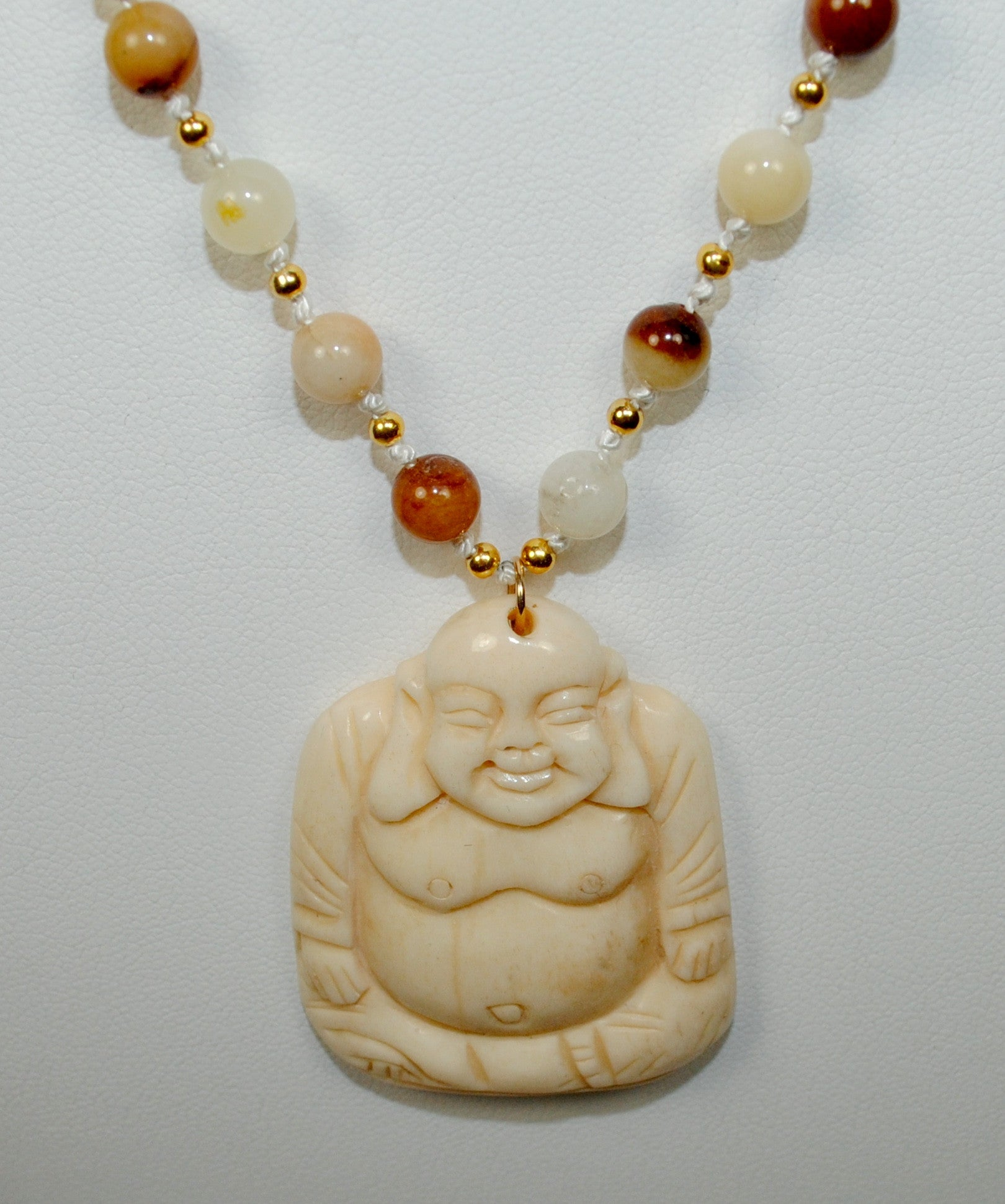 Carmel Necklace w/ Buddha Drop
