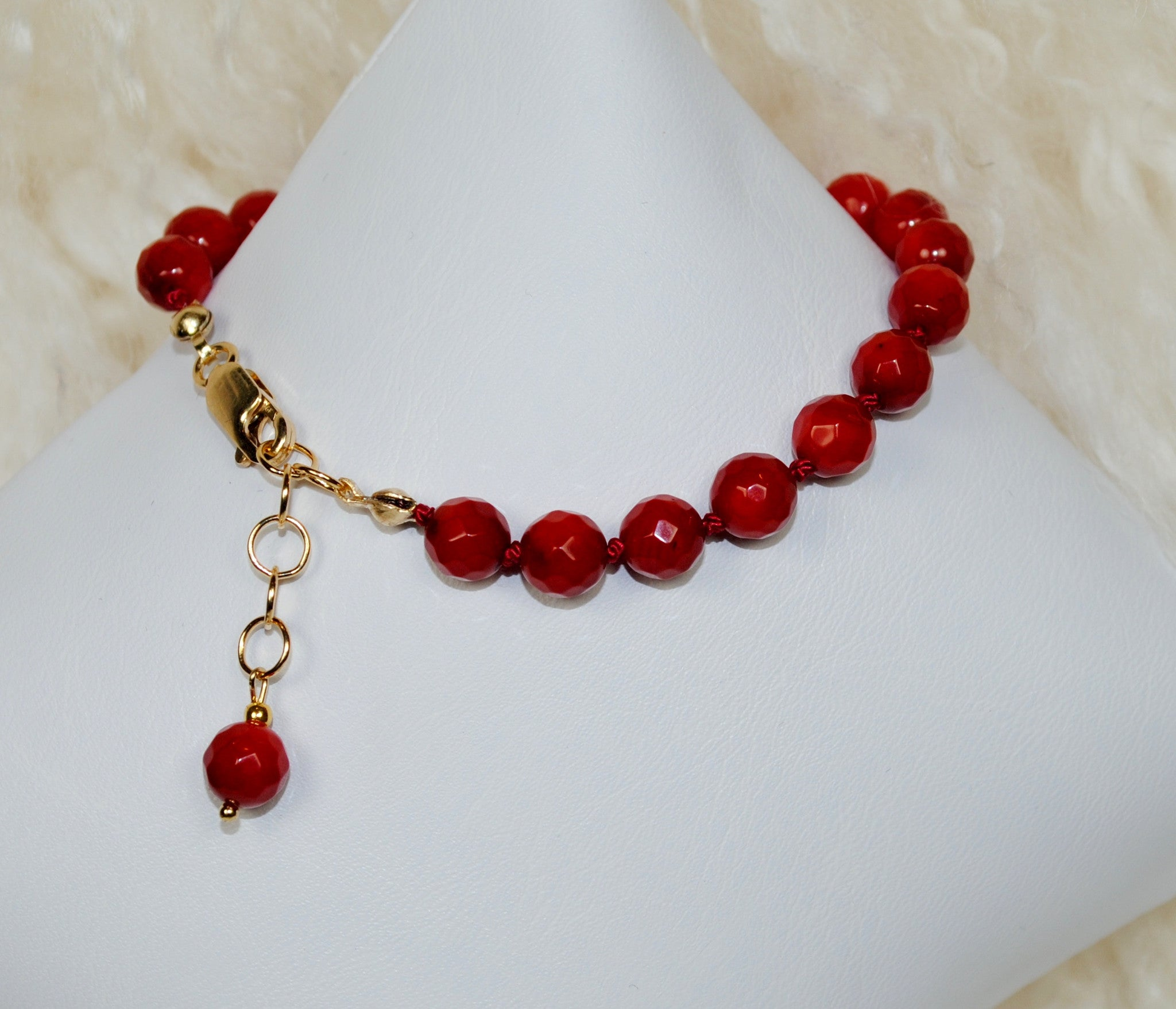 Red 'Giving Back' Bracelet - Large Bead