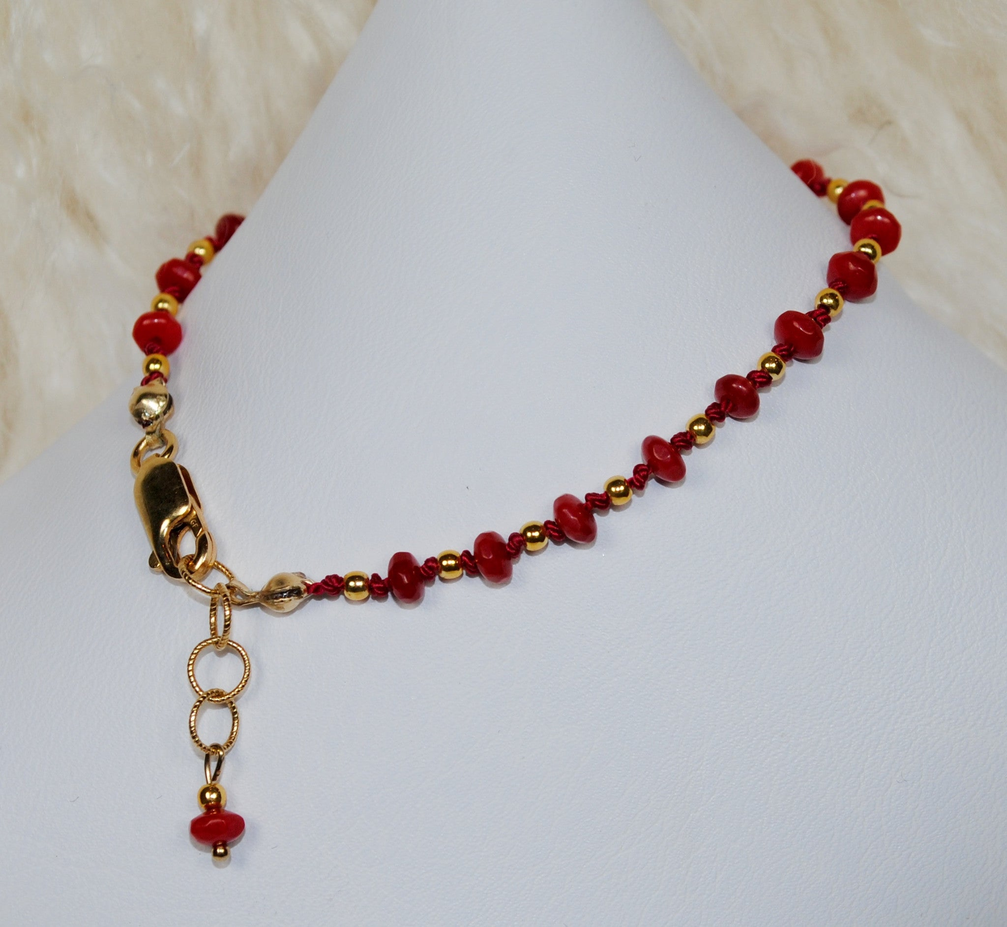 Red & Gold 'Giving Back' Bracelet - Small Bead