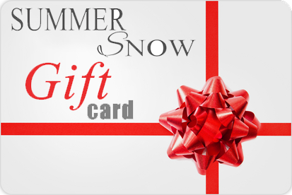 Purchase a Summer Snow Art Gift Card for Friends and Family!