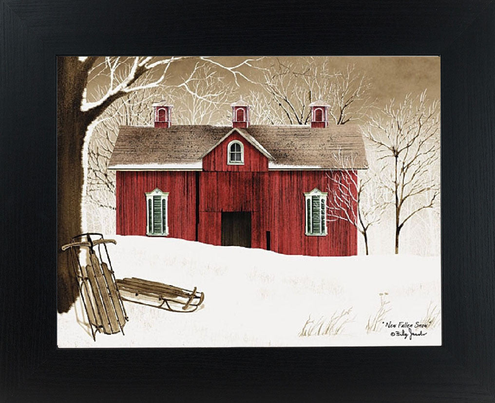 New Fallen Snow Framed Art by Billy Jacobs BJ1024