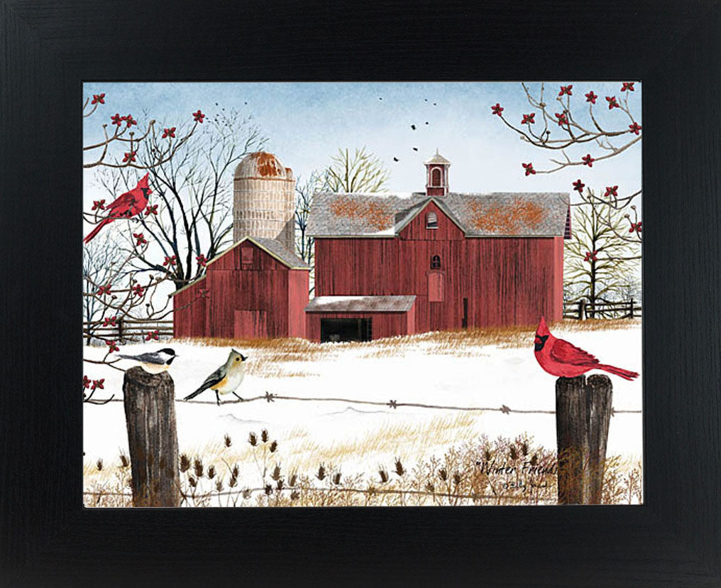 Winter Friends by artist Billy Jacobs BJ1038 - Summer Snow Art