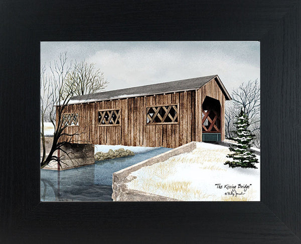 The Kissing Bridge by artist Billy Jacobs BJ1050 - Summer Snow Art