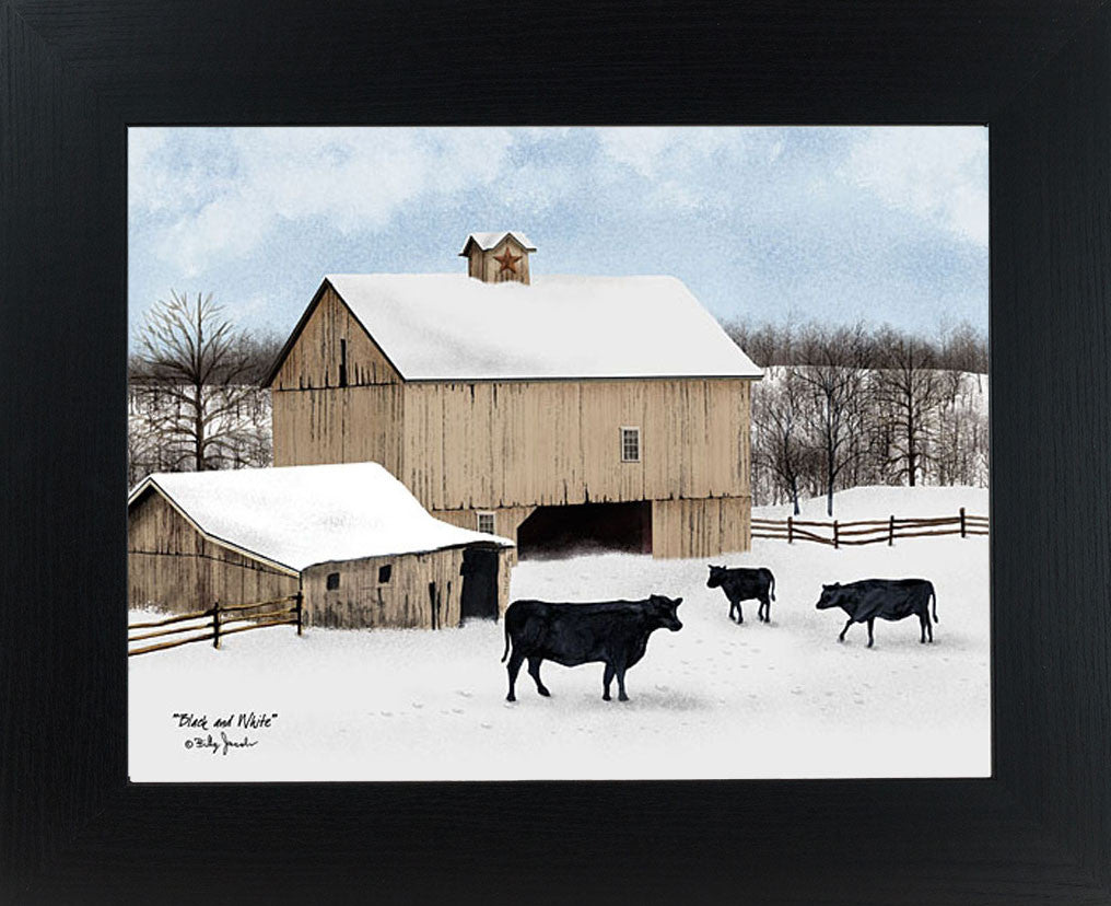 Black and White by artist Billy Jacobs BJ1090 - Summer Snow Art