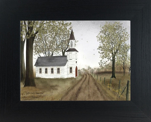 Little Country Church House by artist Billy Jacobs BJ198 - Summer Snow Art