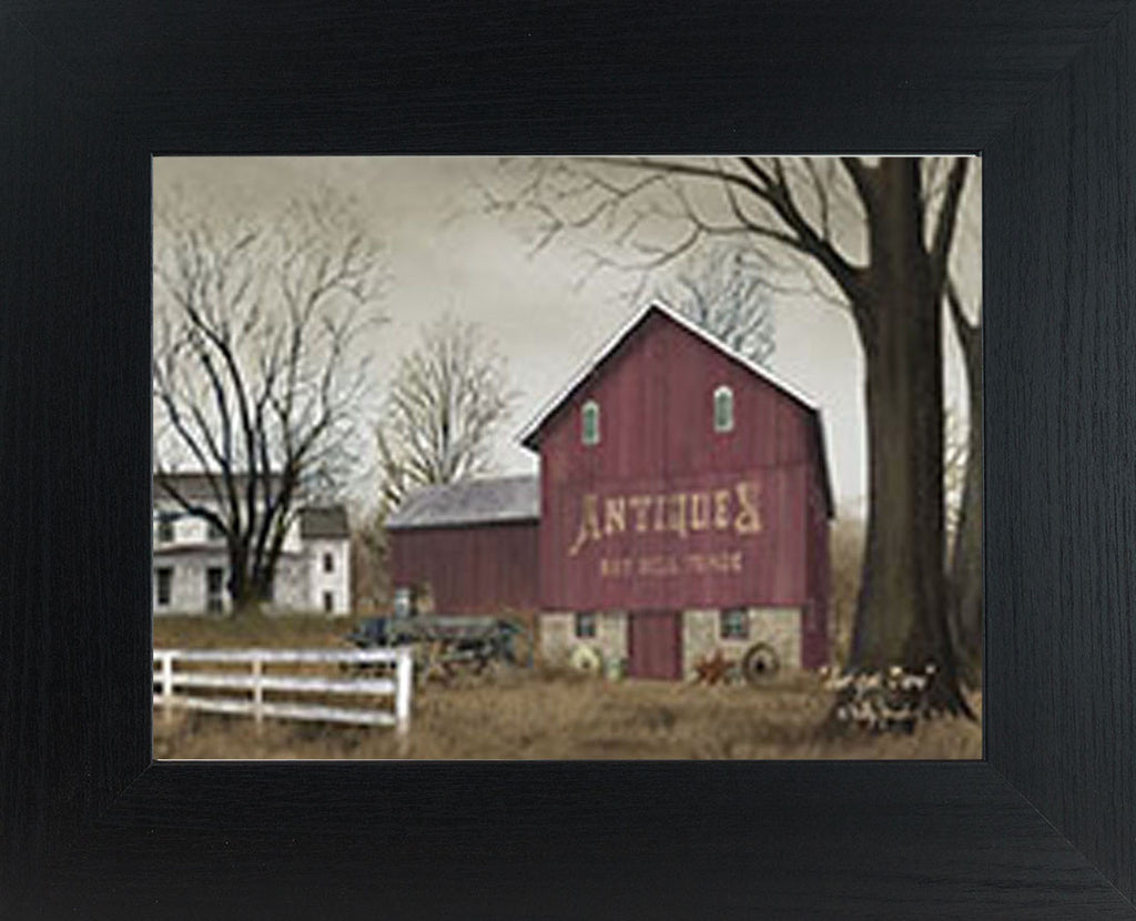 Antique Barn by artist Billy Jacobs BJ189 - Summer Snow Art