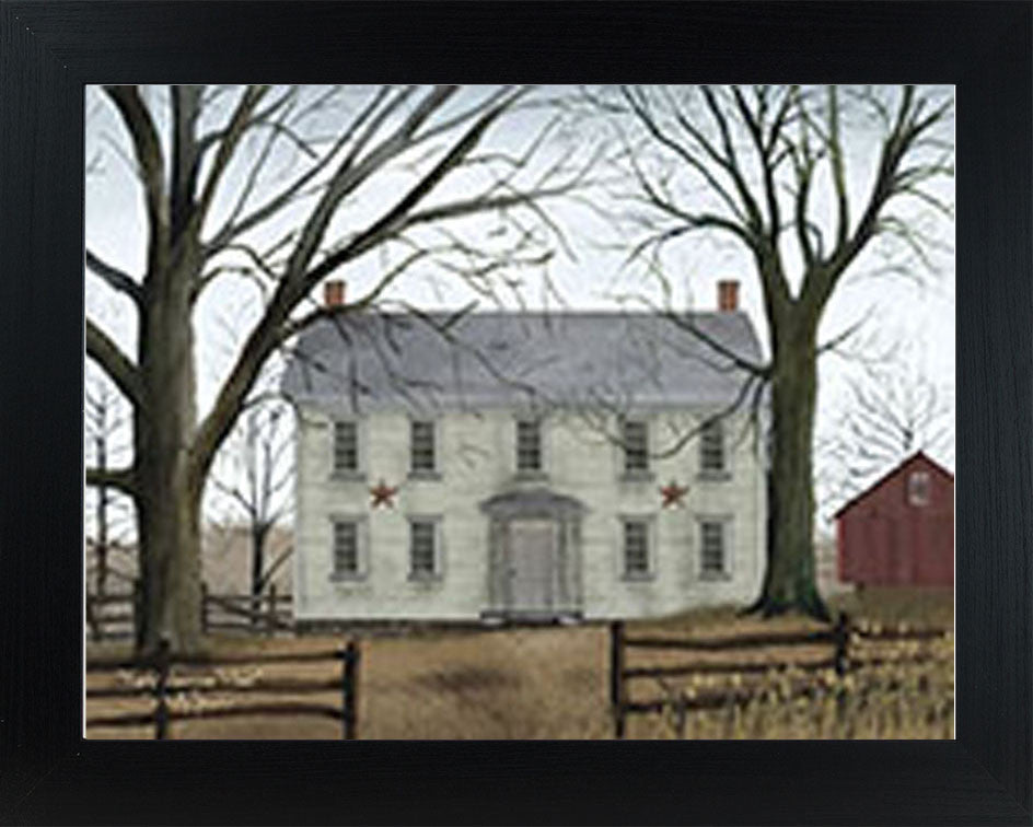Early American Home by artist Billy Jacobs BJ192 - Summer Snow Art