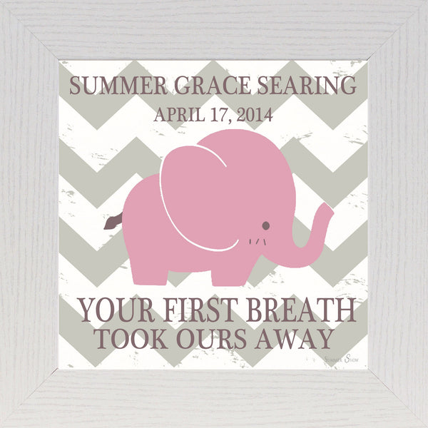 Your First Breath personalized PERS032 - Summer Snow Art