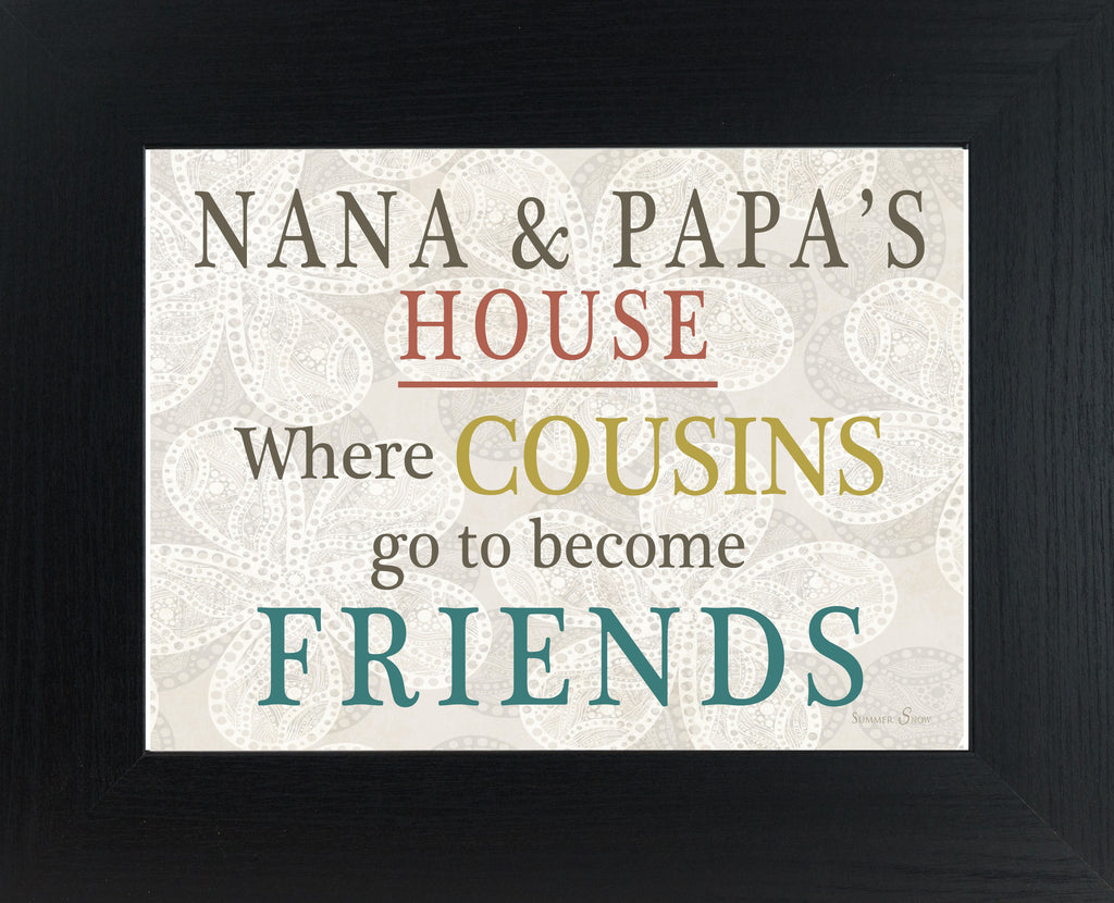 Where Cousins go to Become Friends personalized PERS034
