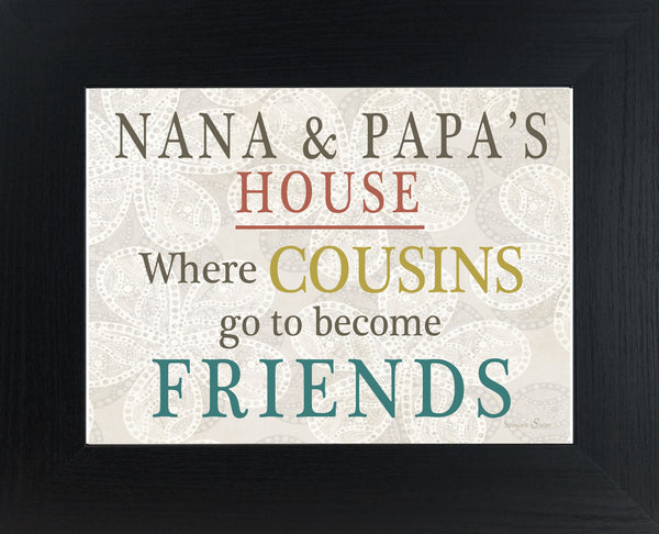 Where Cousins go to Become Friends personalized PERS034 - Summer Snow Art