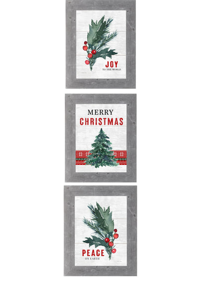 Merry Christmas Set of 3 Pictures by Summer Snow SET181