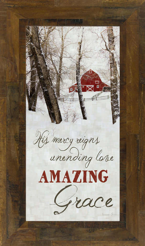 Amazing Grace Barn SS1401 - Summer Snow Art