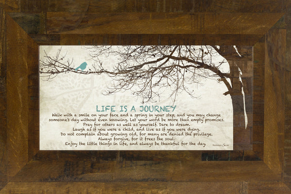 Life is a Journey Tree Blue Bird SS1523 - Summer Snow Art