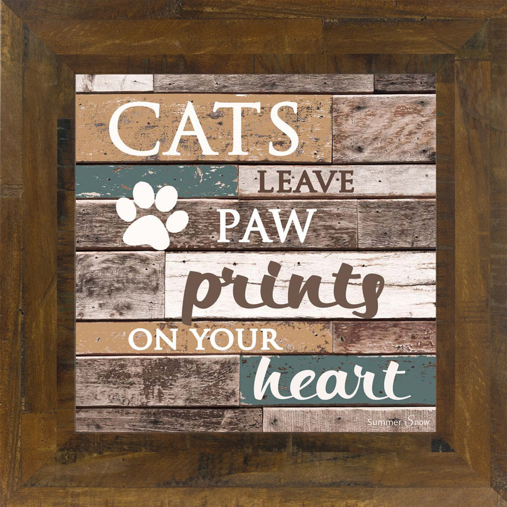 Cats Leave Paw Prints on Your Heart SS6835