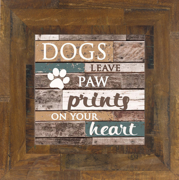 Dogs Leave Paw Prints on your Heart SS6836 - Summer Snow Art