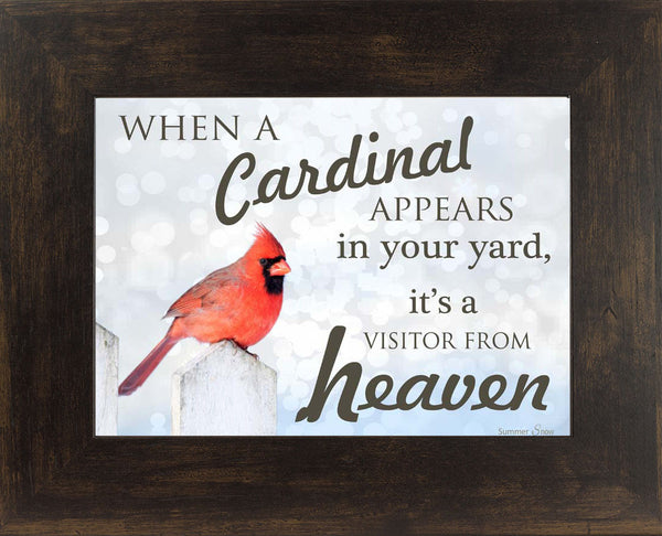 When a Cardinal Appears SS9718 - Summer Snow Art