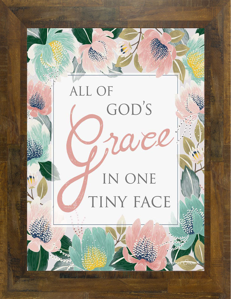 All of God's Grace in One Tiny Face SS9790 - Summer Snow Art