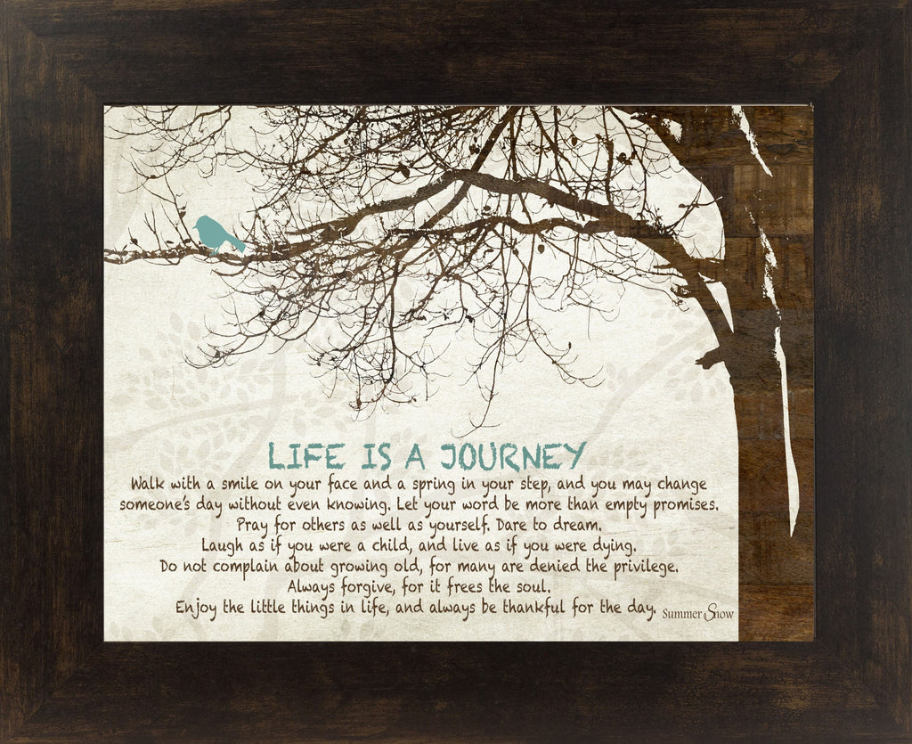 Living Life Bonnie Mohr Quote Life Is A Journey Ss9838  Summer Snow Art