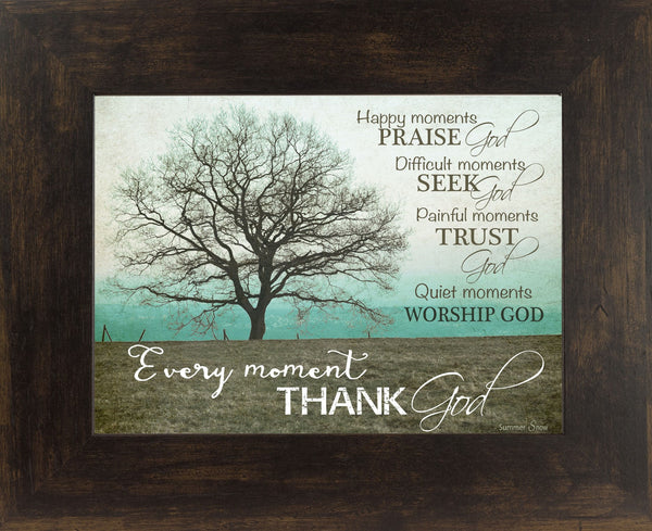 Happy Moments Praise God teal horizontal SS9853 - Summer Snow Art
