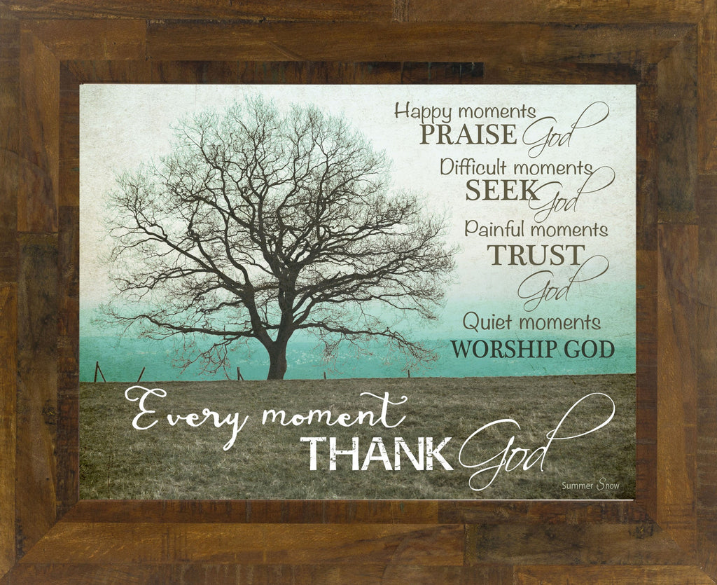Happy Moments Praise God teal horizontal SS9853
