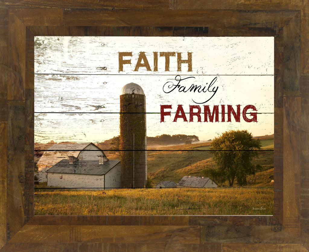 Faith Family Farming silo SS9925 - Summer Snow Art