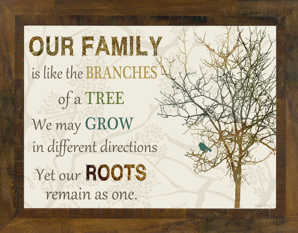 Our Family is Like the Branches of the Tree SS9998 - Summer Snow Art