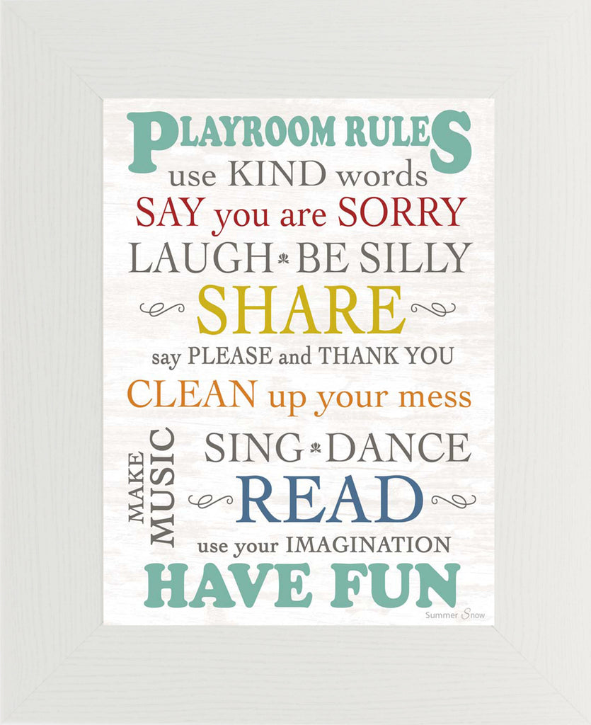 Playroom Rules SSA044