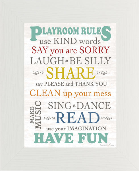 Playroom Rules SSA044 - Summer Snow Art