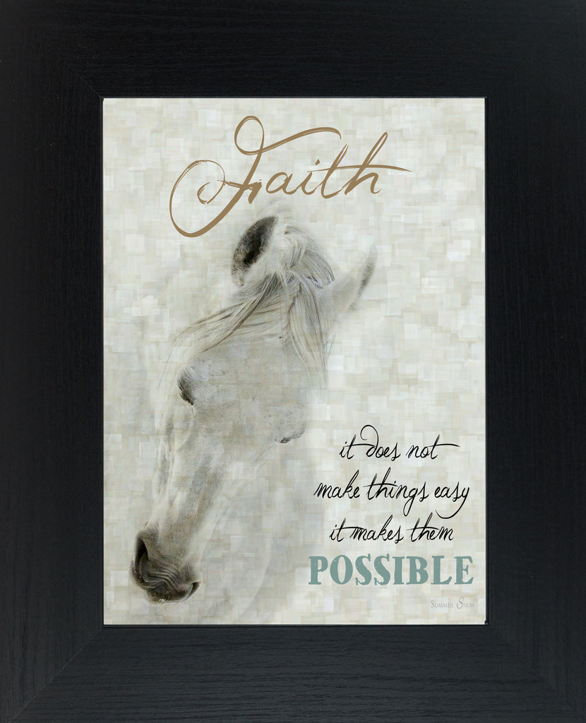 Faith Doesn't Make Things Easy White Horse SSW9922