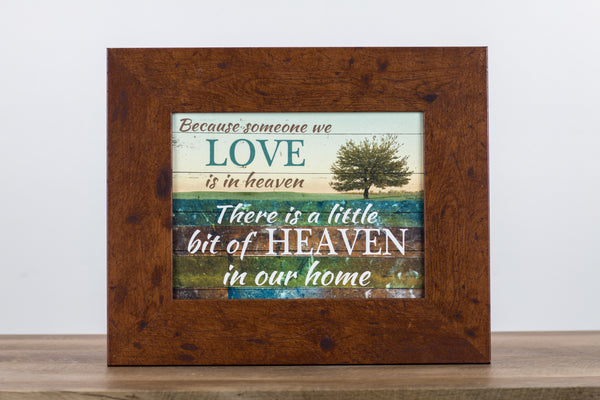 "Glittered Because Someone We Love is in Heaven SS9971 14""x17"""