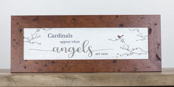 "Glittered Cardinals Appear When Angels are Near SSW103623 13""x35"" - Summer Snow Art"