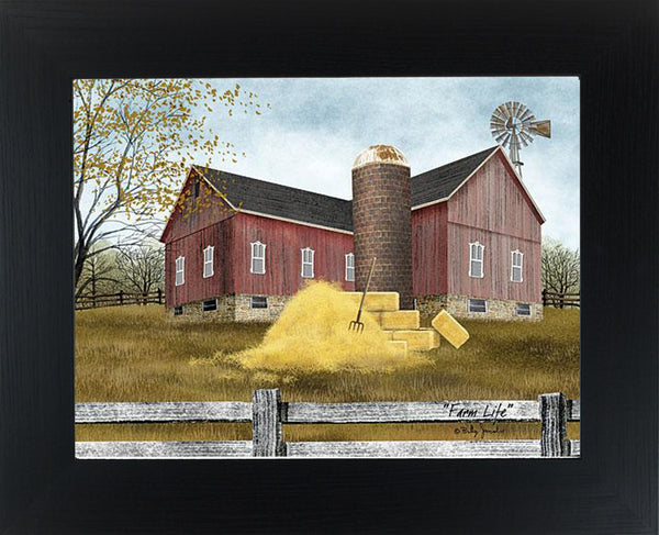 Farm Life by artist Billy Jacobs BJ1190 - Summer Snow Art