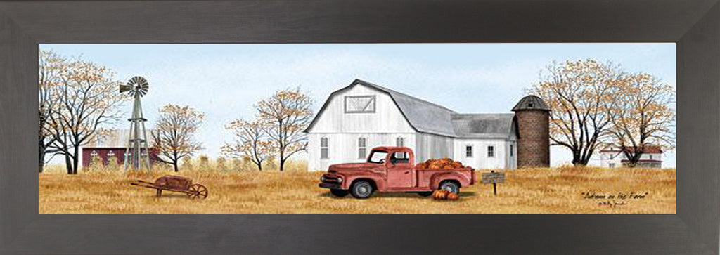 Autumn on the Farm by artist Billy Jacobs BJ1191 - Summer Snow Art