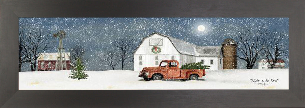 Winter on the Farm by artist Billy Jacobs BJ1194A - Summer Snow Art