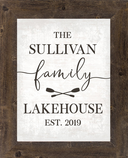 Personalized Family Lakehouse by Summer Snow PER01 - Summer Snow Art