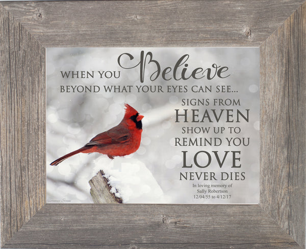 When You Believe Cardinal Personalized PER034 - Summer Snow Art