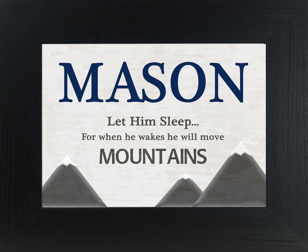 He Will Move Mountains Personalized PER145 - Summer Snow Art