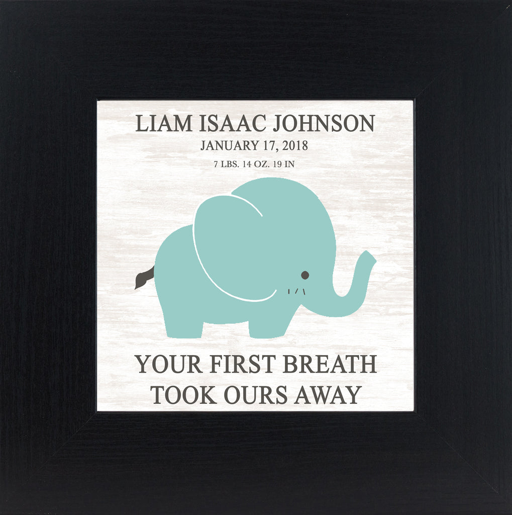 Your First Breath Took Ours Away Personalized PER147 - Summer Snow Art